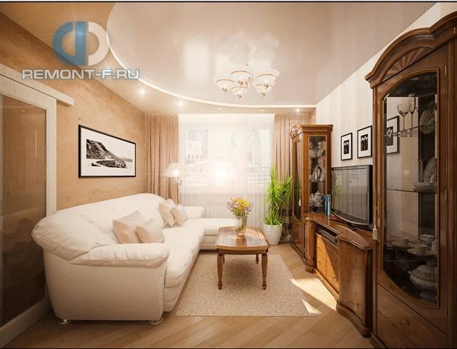 Классическая гостиная с буфетами-витринами