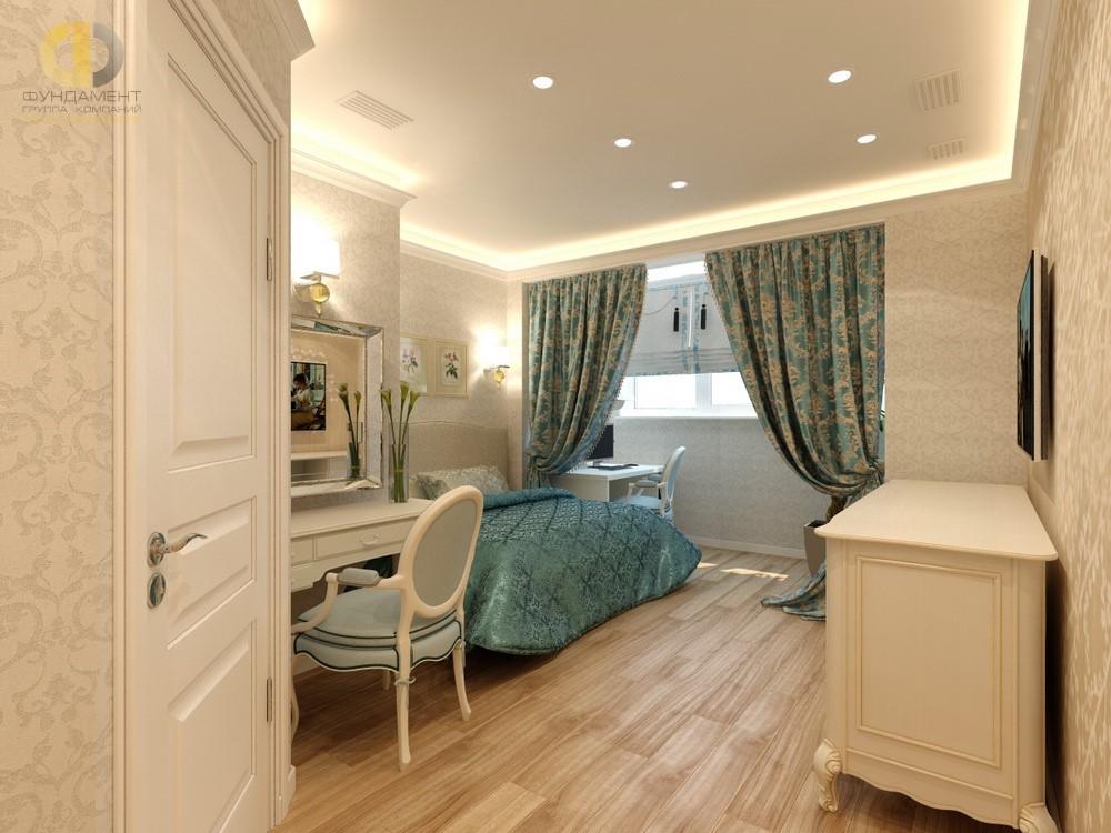 Интерьер спальни в стиле неоклассика в ЖК «Ривьера Парк»