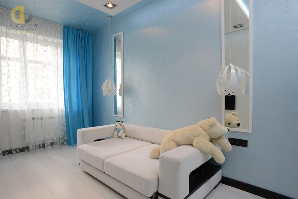 Детская комната после ремонтных работ и меблировки квартиры в Москве