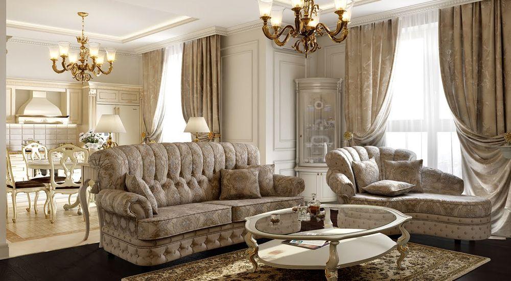 cda78786401b Классический стиль в интерьере, дизайн и интерьер квартир на фото ...