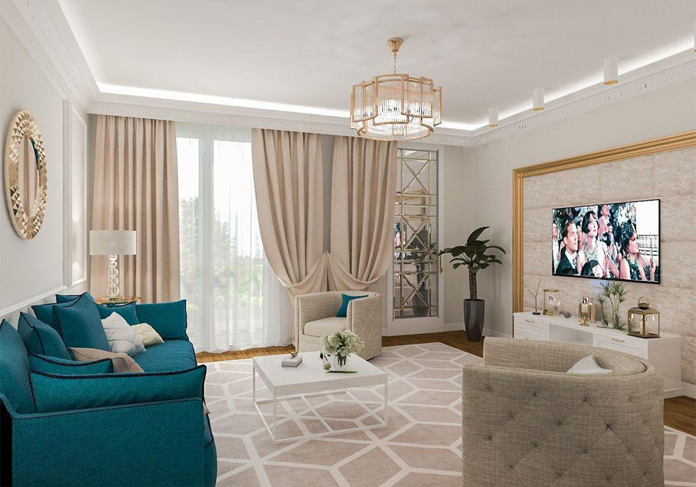 Интерьер гостиной в стиле эклектика
