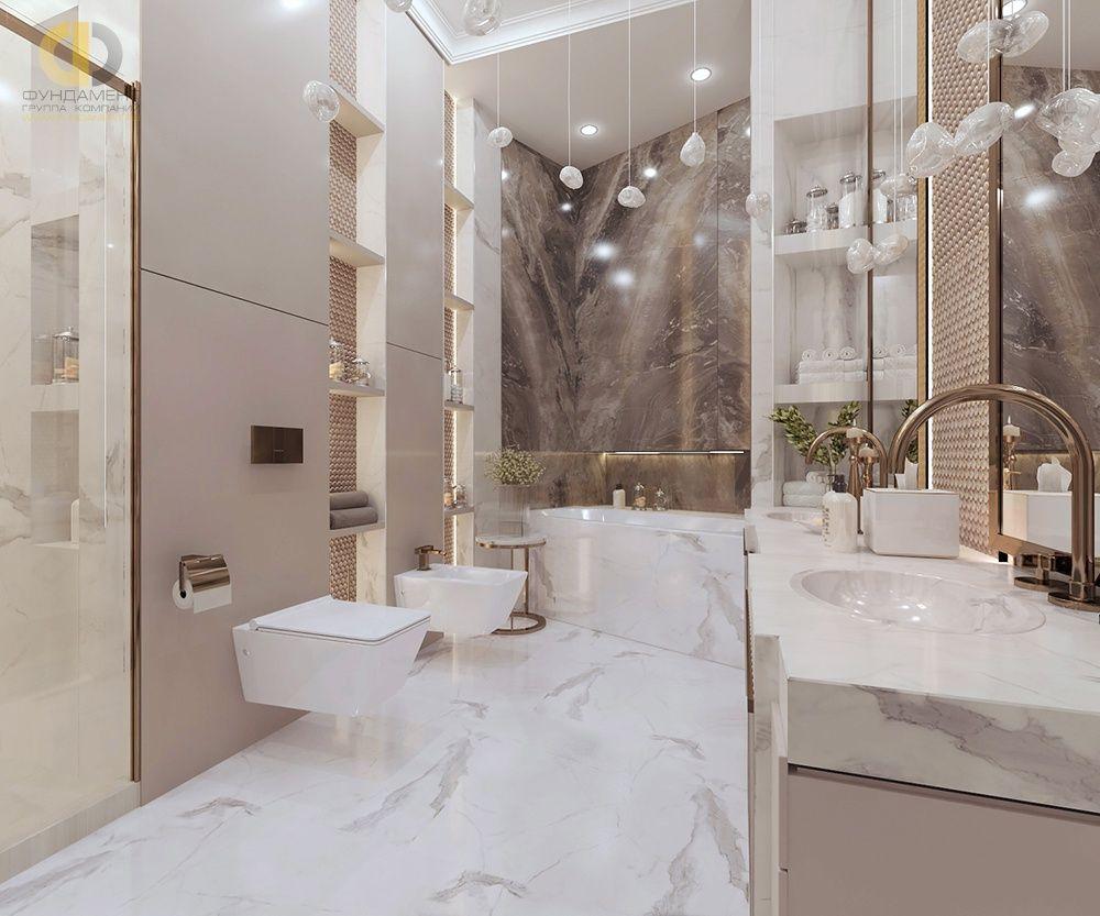 Плитка в интерьере ванной: самые модные варианты