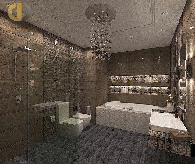 Интерьер стильных ванных комнат мебель ванна стеклянная