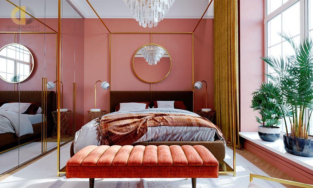 Дизайн спальни 12 кв. м в современном стиле. Фото 2020