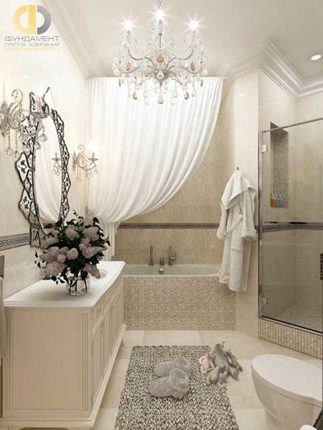 Современные идеи в дизайне ванной комнаты в неоклассическом стиле. Фото 2016