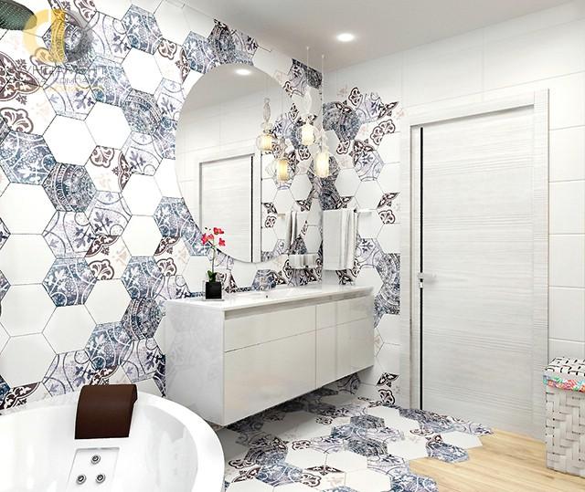 Современные идеи в дизайне ванной комнаты с белой мебелью. Фото 2016