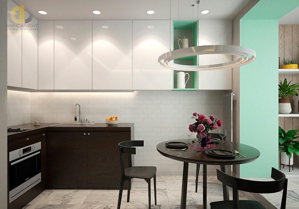 Дизайн кухни-столовой в современном стиле. Фото интерьера
