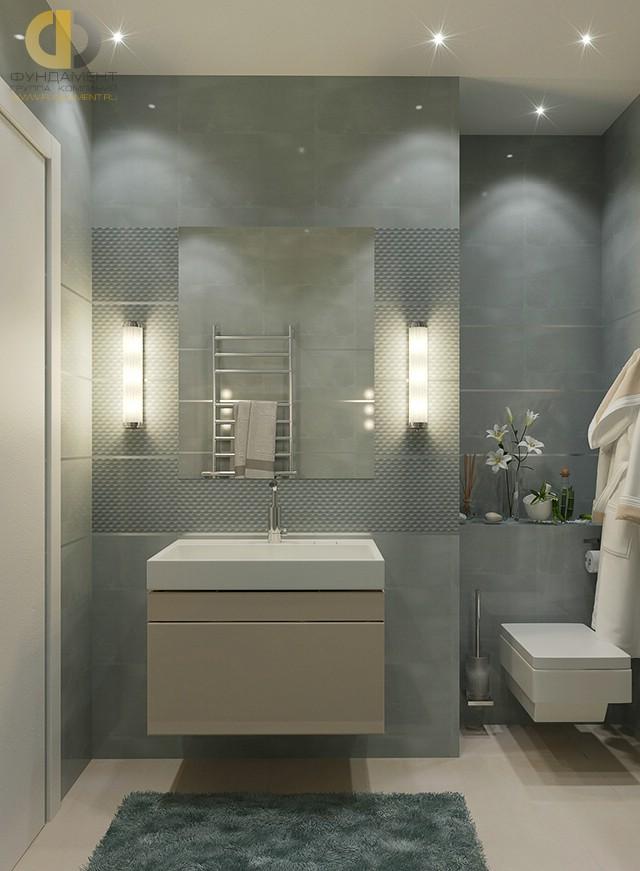 Отделка ванной комнаты плиткой: фото. Дизайн санузла в современном стиле