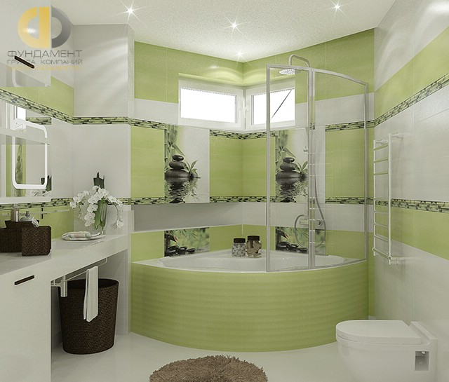 Современные идеи в дизайне ванной комнаты. Фото 2016