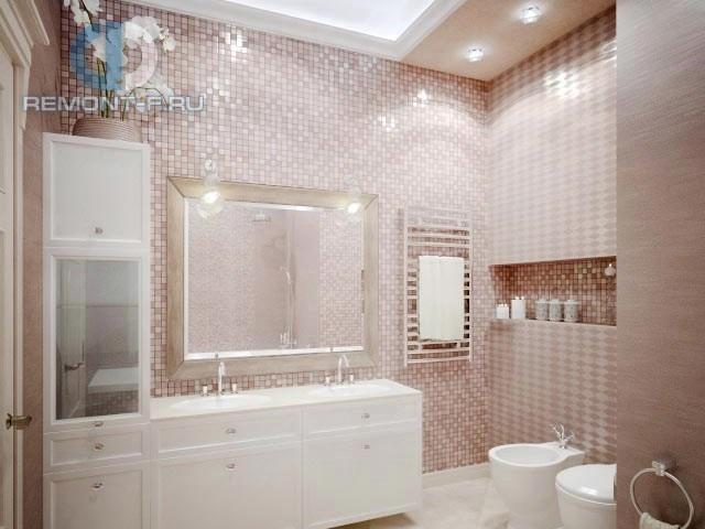 Современные идеи в дизайне ванной комнаты в розовых тонах. Фото 2016