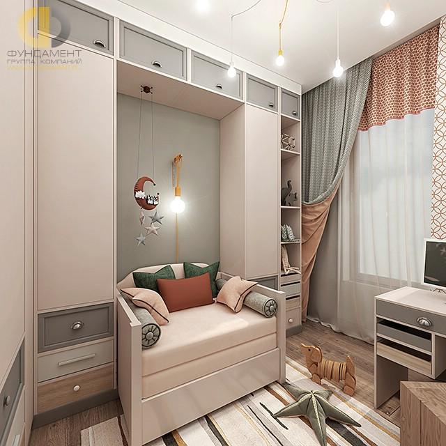 Дизайн детской комнаты для девочки. Фото современного интерьера