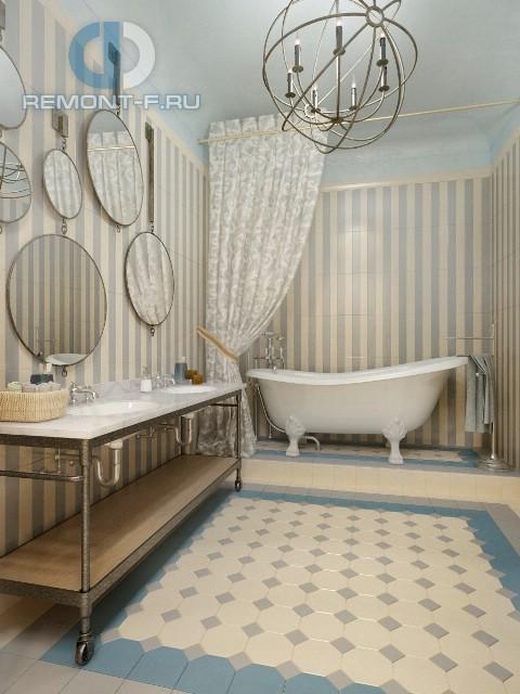 Современные идеи в дизайне ванной комнаты с элементами в стиле ретро. Фото 2016