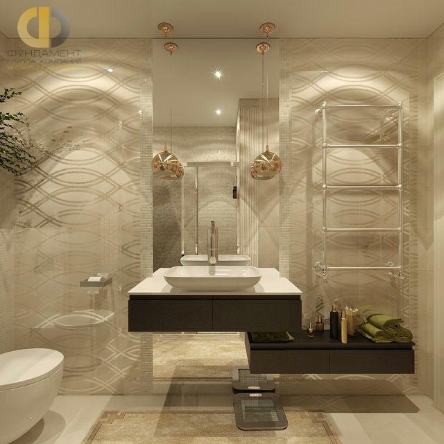 Современные идеи в дизайне ванной комнаты в стиле арт-деко. Фото 2016