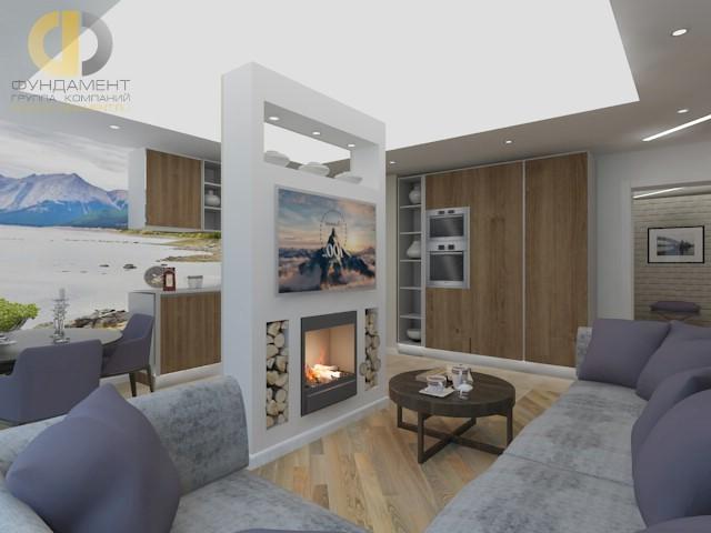 дизайн кухни гостиной 25 фото с зонированием