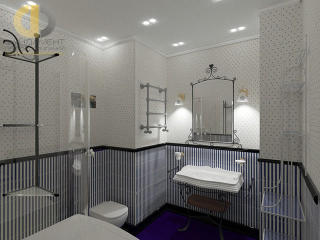 Отделка ванной комнаты плиткой: фото. Дизайн монохромного санузла