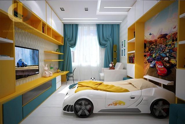 дизайн детской комнаты для мальчика 25 фото