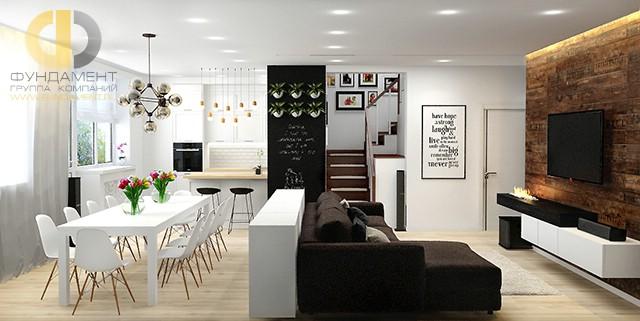 дизайн гостиной совмещенной с кухней фото 20162017