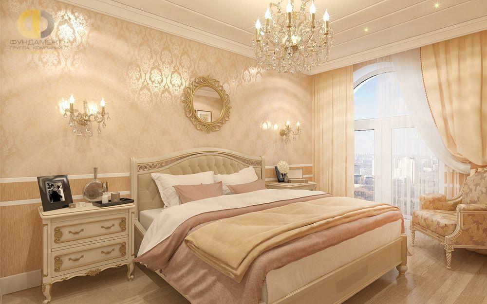 ломается спальня в персиковых тонах фото горный