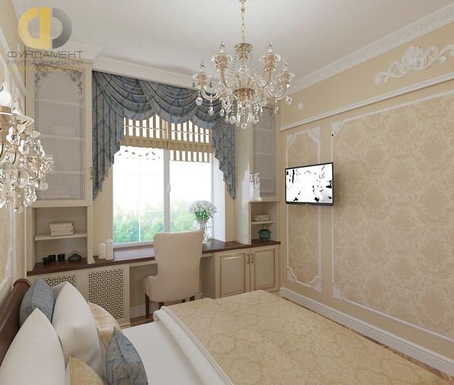 Интерьер классической спальни в ЖК «Искра-Парк»