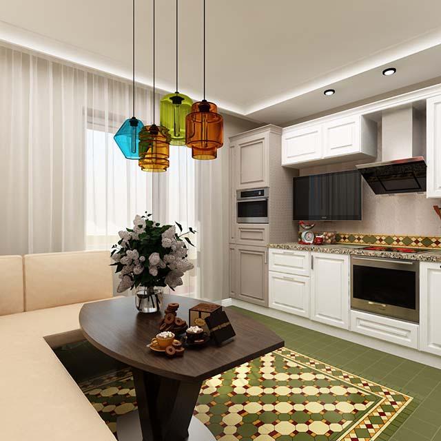 кухня фото дизайн 9м