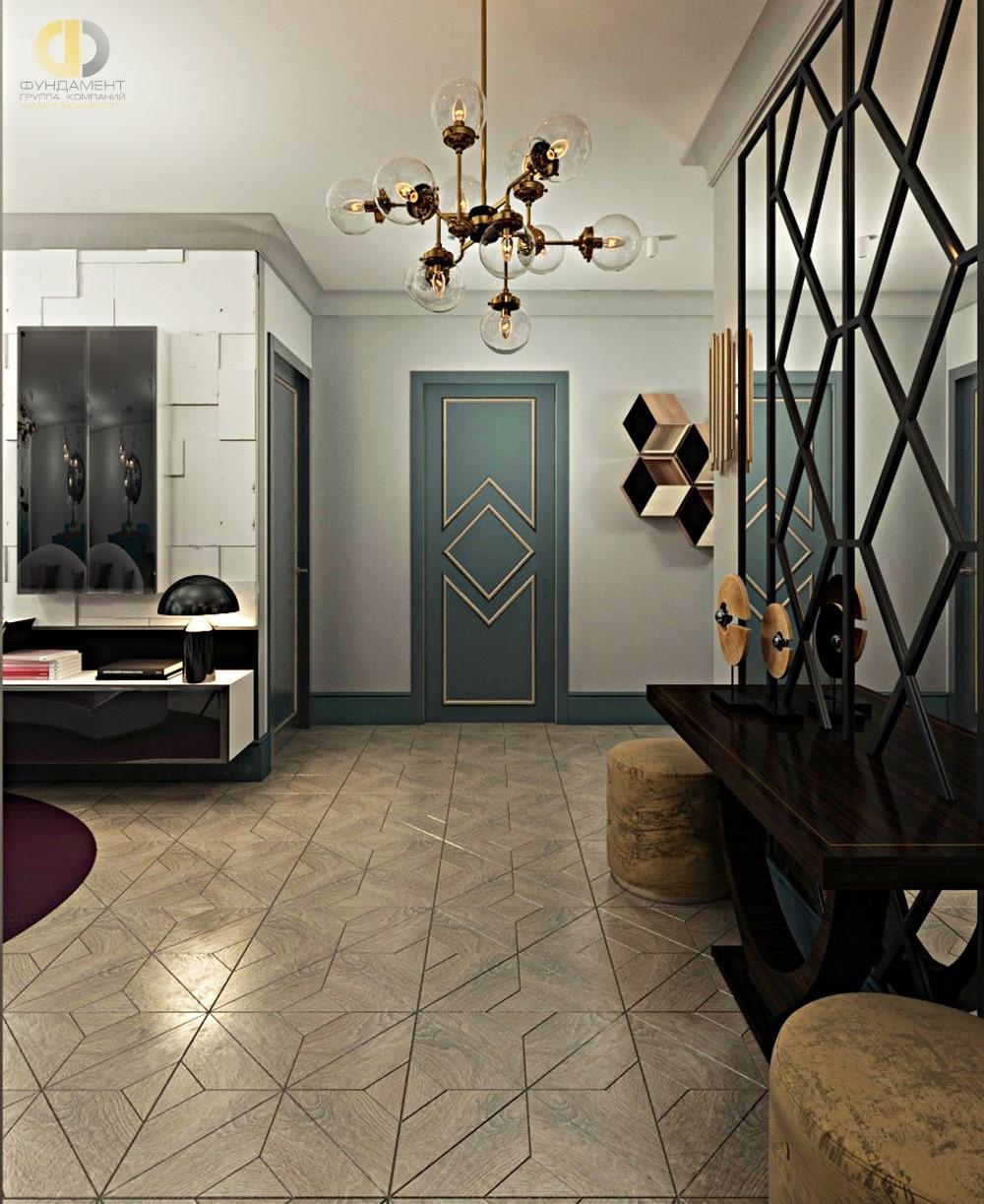 Интерьер гостиной в стиле фьюжн в ЖК «Маяк»