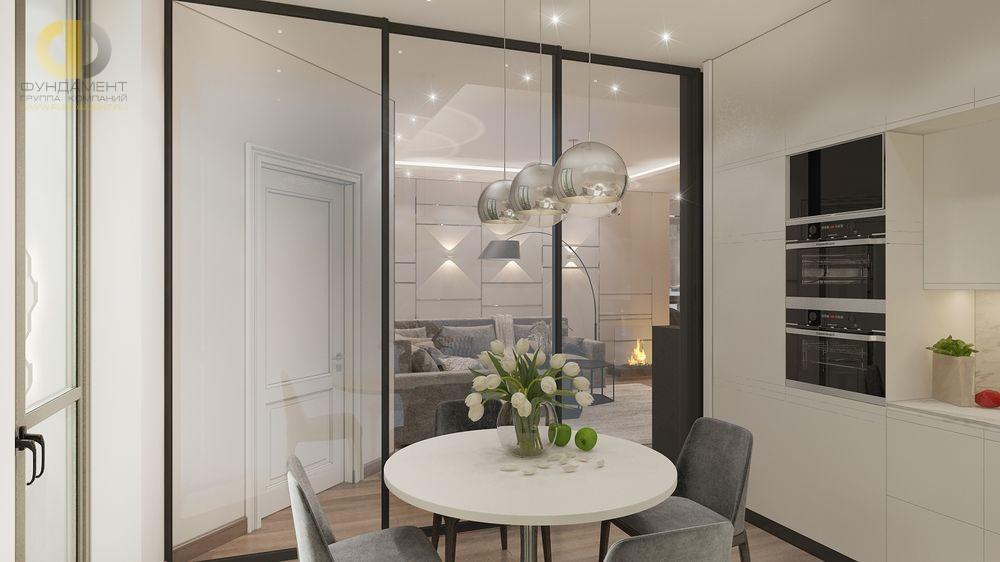 Дизайн интерьера со стеклянными межкомнатными дверьми