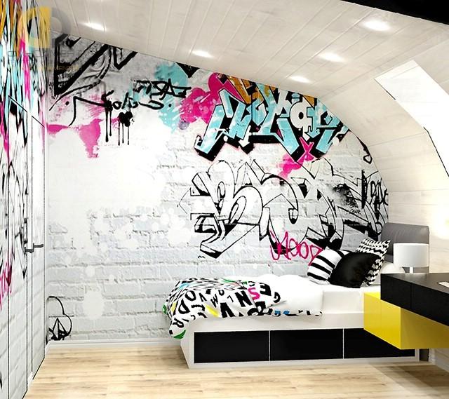 Обои граффити в комнату
