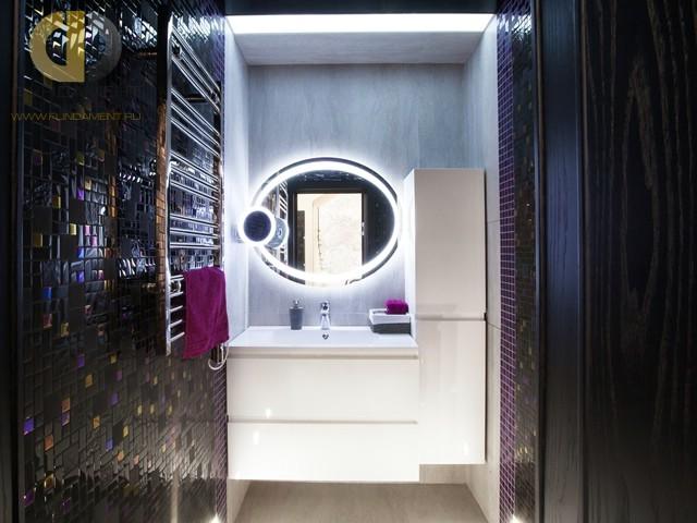Современные идеи в дизайне ванной комнаты с мозаичными стенами. Фото 2016