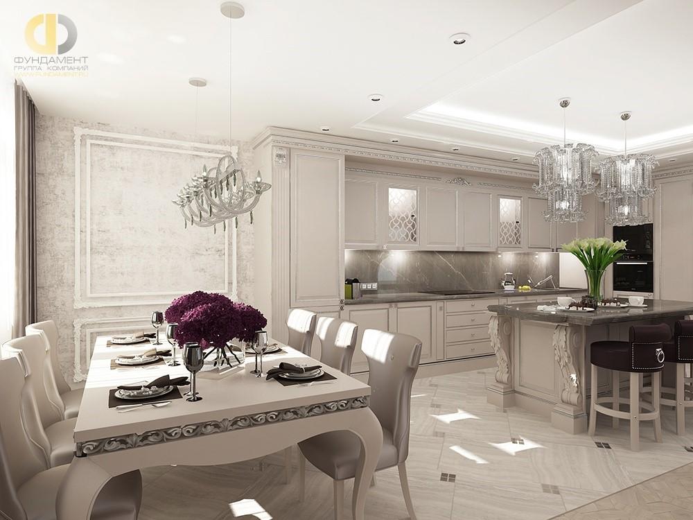 11ca959e11008 Дизайнерские светильники. Кухня в классическом стиле в квартире. Фото из  портфолио