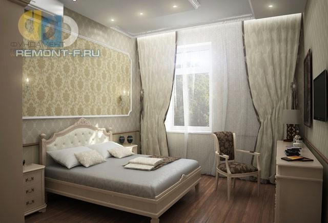 Интерьер классической спальни с LED-подсветкой