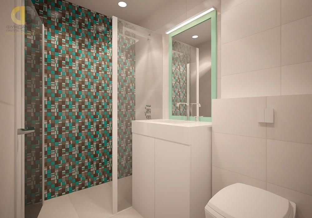 Бирюзовый цвет в интерьере современной ванной комнаты