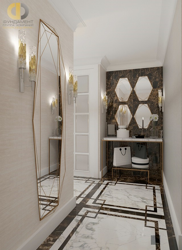 Дизайн коридора в стиле ар-деко