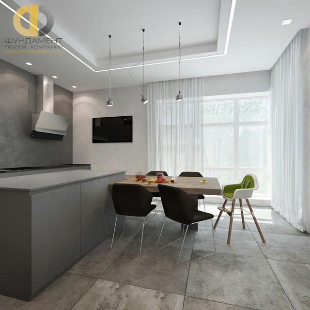 Дизайн кухни 12 кв. м с эркером. Фото интерьера 2016