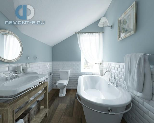 Отделка ванной комнаты плиткой: фото. Дизайн ванной на мансарде