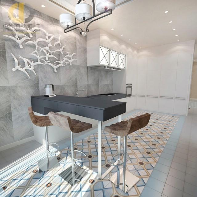 Современный прованс в дизайне кухни загородного дома