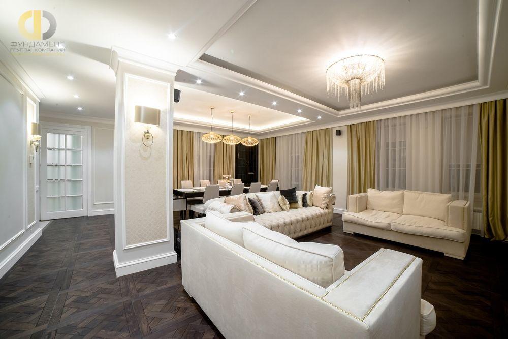 Фото + Видео ремонта в квартире 210 кв.м в стиле неоклассика