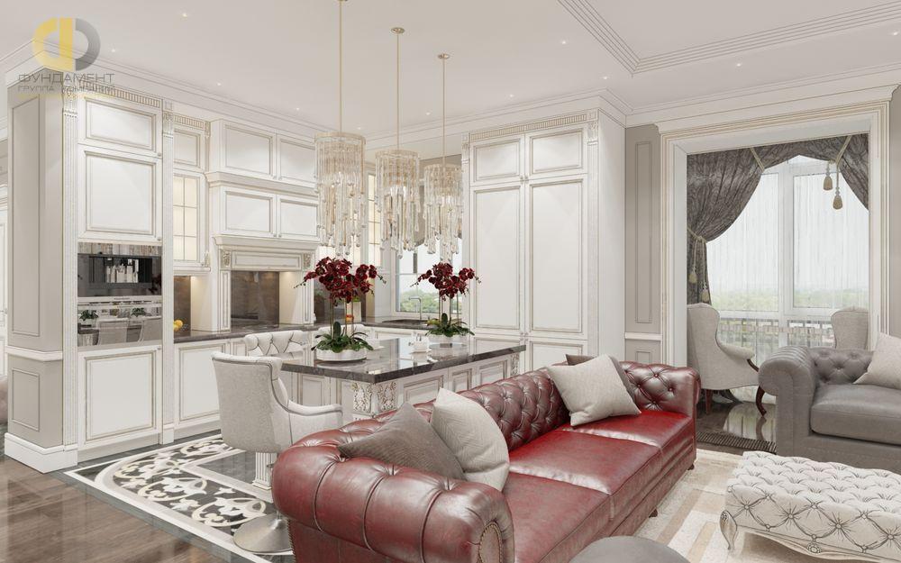 Фото + Виртуальный тур по квартире 114 кв.м в классическом стиле