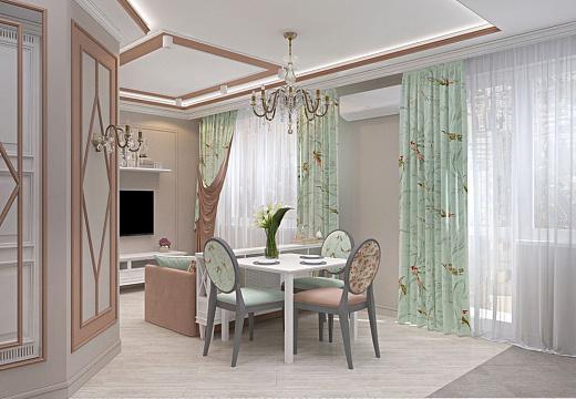 Кухня в стиле классицизм, фото интерьера