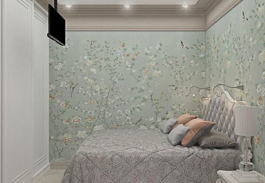 Спальня в стиле классицизм, фото интерьера