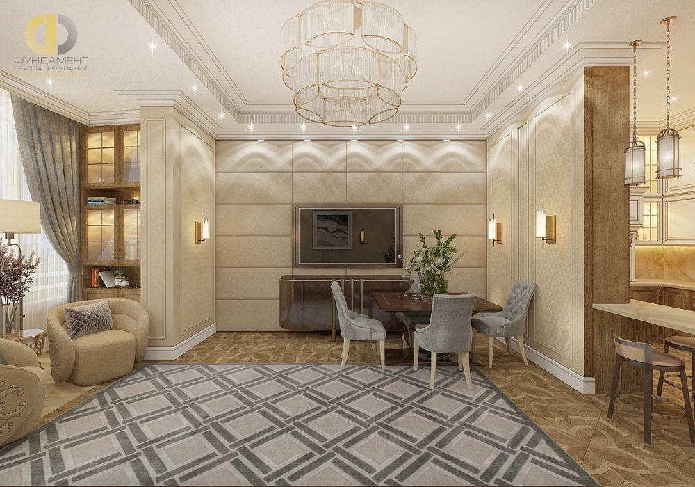 Фото + Виртуальный тур по квартире 167 кв.м в стиле неоклассика и ар-деко