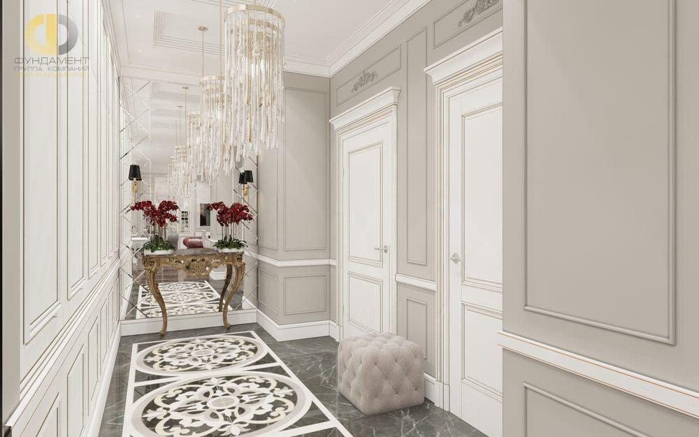 На фото: Интерьер коридора в квартире в классическом стиле