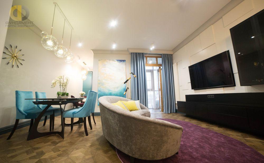 Фото + Видео ремонта в квартире 140 кв.м в стиле фьюжн