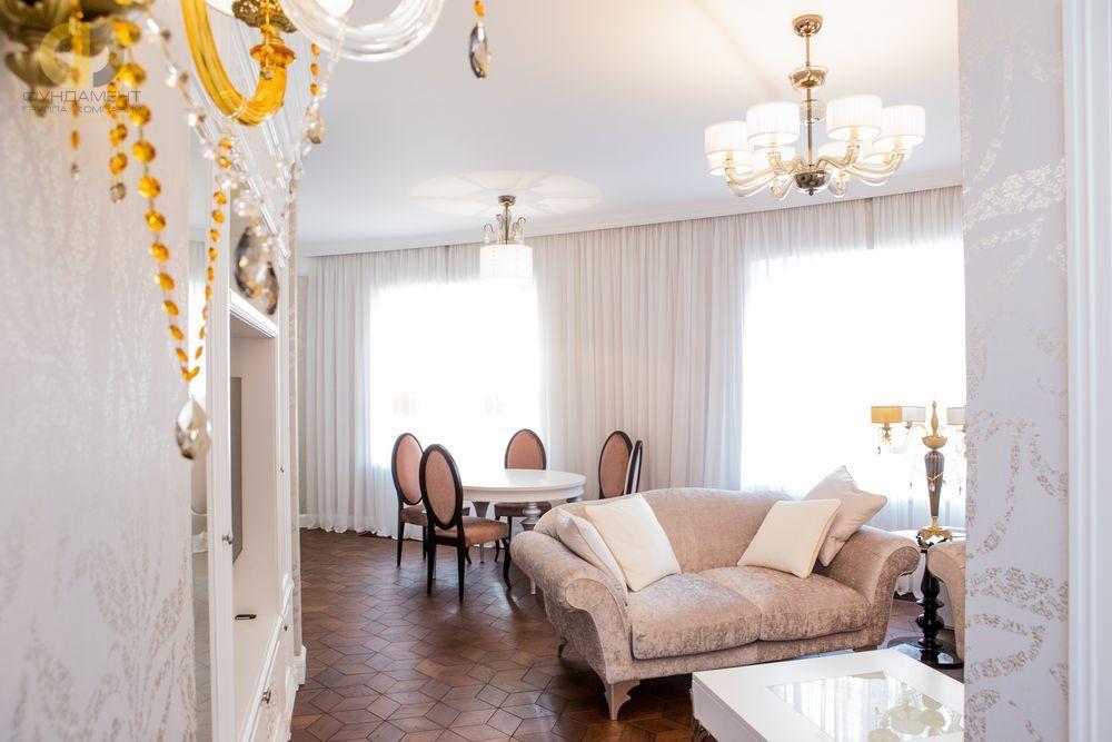 Фото + Видео ремонта в квартире 124 кв.м в стиле ар-деко